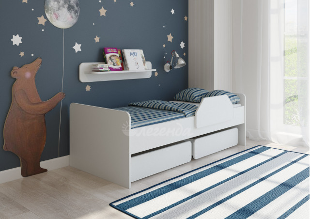 Детская кровать Легенда 27.1 белая